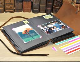 personalized leather photo albums personalized leather photo album rustic leather album альбомы