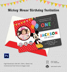 9 mickey mouse birthday invitations free psd eps jpg vector