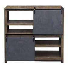 Natural Wood Bookcase Gray Bookcases Home Office Furniture The Home Depot
