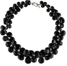 large black beaded necklace images Black bead necklace shopstyle jpg
