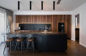 black walnut wood kitchen cabinets stunning walnut and black kitchen neo design modern