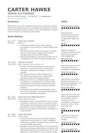 Senior Accountant Resume Sample stylish and peaceful staff accountant resume 8 resume sample for