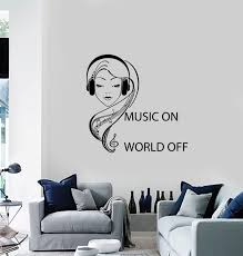 wall vinyl decal music on world off quote teenage in