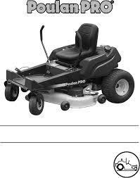 poulan lawn mower pro 925 zx pro 950 zx user guide