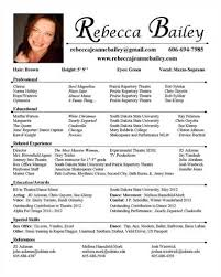 Resume Acting Template Awesome Actors Resume Exle Ideas