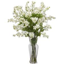 white floral arrangements cottonwood greenery silk ledge plant gr152 silk arrangements for