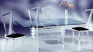acrylic dining room table acrylic 6pc dining set