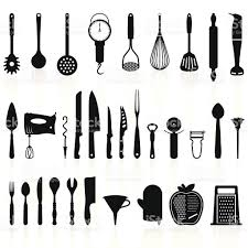 Free Silhouette Images Fine Kitchen Utensils Silhouette Vector Free Icons Intended Design