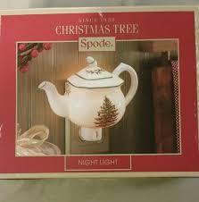 spode tree teapot nightlight nib spode tree