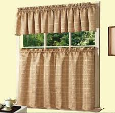Kitchen Cafe Curtains Exquisite Light Brown Fabric Tailored Kitchen Cafe Curtain Design