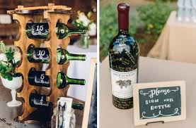 wine bottle wedding guest book 20 vineyard wedding ideas weddbook