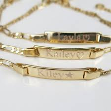 gold baby name bracelets 9 best https www name2you personalized name