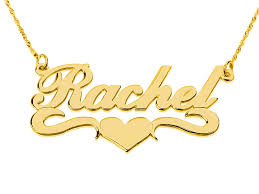 gold name necklace gold name necklace with underline and heart