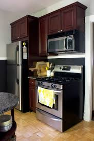 best color to paint kitchen with cherry cabinets how i repainted my rental kitchen and made peace with the