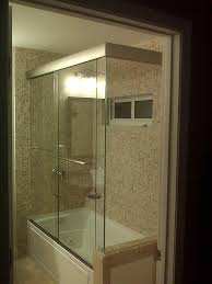 Glass Doors For Tub Shower Delighted Sliding Glass Shower Tub Doors Photos Bathroom With