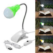 clip on reading light for bed flexible usb led clip on cl reading study book table light bed