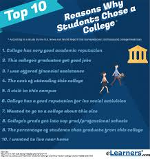 choosing a college 10 reasons why students select a college