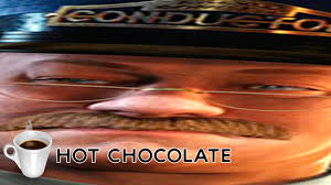 Chocolate Meme - the polar express hot chocolate scene but each time they say