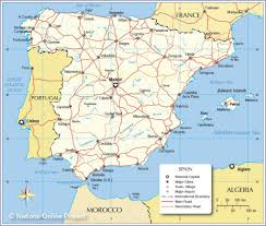 spain on a map map of spain and surrounding countries major tourist