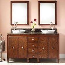 double sink walnut vanity signature hardware
