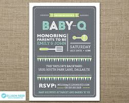 co ed baby showers bbq baby shower invitation baby q shower bbq inviation
