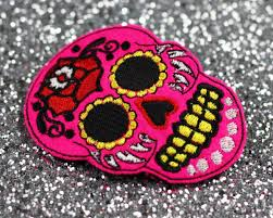 sugar skull hair clip day of the dead pink basil s boutique