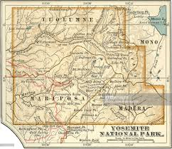 Yosemite Park Map Map Of Yosemite National Park Stock Illustration Getty Images