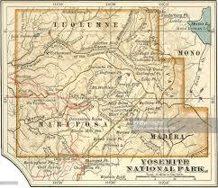 Yosemite Park Map Map Of Yosemite National Park Stock Illustration Getty Images