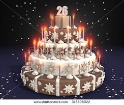 cake burning candles birthday 18 year stock illustration 314106329