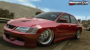 ricer lancer midnight club los angeles vehicle list final dlc list wip