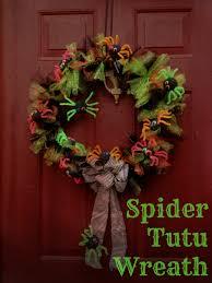 Halloween Wreath Diy Spider Tutu Wreath A Halloween Kid Friendly Craft