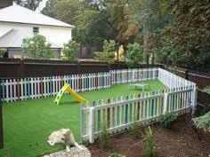 Backyard Play Area Ideas by Our New Play Area Fence Within A Fence The Toddlers Play In