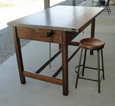Antique Oak Drafting Table by Vintage Industrial Hamilton Drafting Table Kitchen Island From