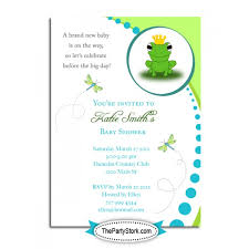 frog baby shower frog baby shower invitations template best template collection