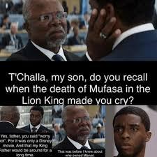 King Meme - black panther lion king meme quirkybyte