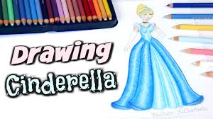drawing cinderella how to draw a disney princess with colored