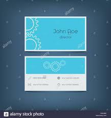 modern flat design business card template graphic user interface