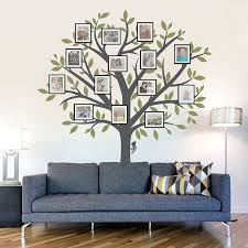 home design family tree wall decal with frames deck kids