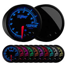 wide band glowshift elite 10 color series wideband air fuel ratio