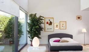 simple bedroom interior design with green plants interior design