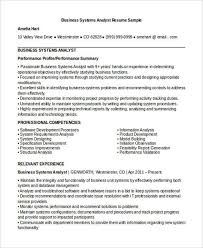 Systems Analyst Resume Sample by Business System Analyst Resume Cv01 Billybullock Us