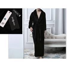 robe de chambre homme luxe finddress chaud et doux luxe tissu eponge peignoir de bain souple