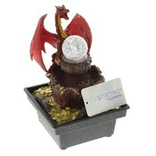 Contemporary Indoor Water Fountains by Small Fountain Red Dragon Tabletop Water Fountains Indoor Decor