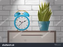 desk alarm clock vector illustration desk alarm clock indoor stock vector 727681408