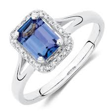 tanzanite blue rings images Ring with tanzanite 1 10 carat tw of diamonds in 10kt white gold jpg