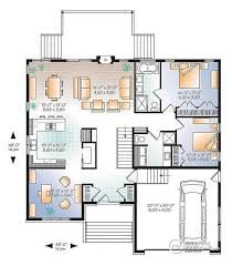 open floor plan home designs house plan w3280 v1 detail from drummondhouseplans com