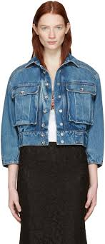 light blue cropped jean jacket dolce gabbana blue cropped denim jewelled jacket women dolce and