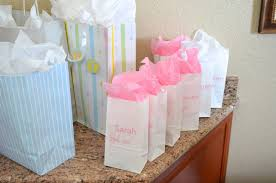 baby shower gift bags pink tulle ribbon goodie bags hello nutritarian