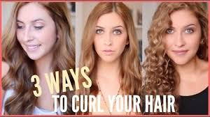 different ways to curl your hair with a wand 3 ways to curl your hair big voluminous curls beachy curls