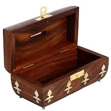 Box Bed Designs In Wood With Storage Amazon Com Antique Design Handcrafted Box In Wood Money Bank For